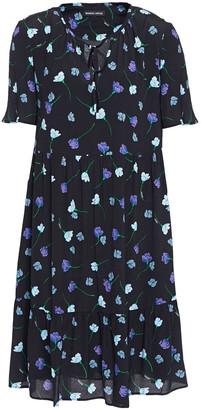 Markus Lupfer Gathered Floral-print Crepe Dress