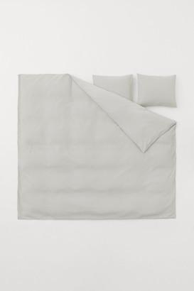 H&M Waffled Duvet Cover Set