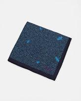 Ted Baker Bug print silk pocket square