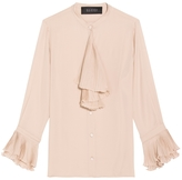 Gucci Pleated Ruffle Blouse