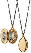 Monica Rich Kosann Moyen 18k Gold Oval Locket Necklace