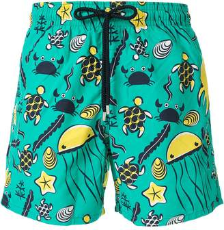 Vilebrequin Moorea Turtles-print swim shorts