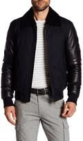 Mackage Cezar Genuine Shearling Lined Leather Jacket