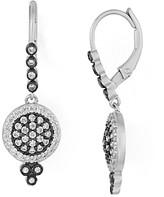 Freida Rothman Pave Disc Leverback Earrings