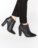 Selected Thora Black High Heeled Leather Ankle Boots