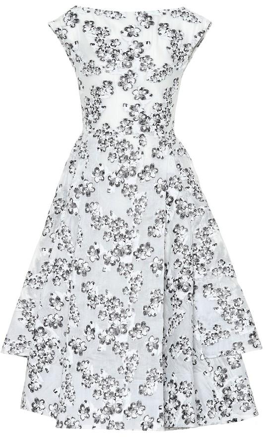 Maticevski Innocents floral jacquard dress