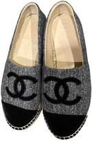 Chanel Grey Velvet Espadrilles