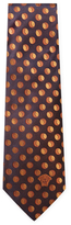 Versace Circles Silk Embroidered Tie