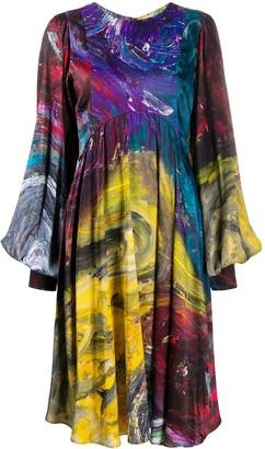 Charles Jeffrey Loverboy Swirl Print Graphic Dress