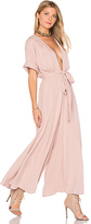 Mara Hoffman Deep V Jumpsuit in Mauve. - size 6 (also in )