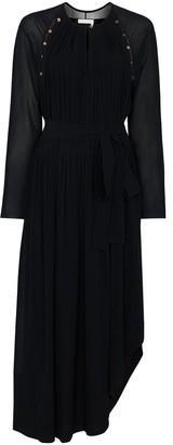 Chloé Button-Detail Silk Maxi Dress