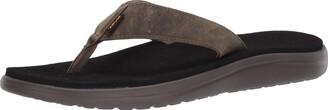 Teva Men's Voya Flip Leather Open Back Slippers