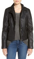 Jessica Simpson Quilted Faux Leather Jacket