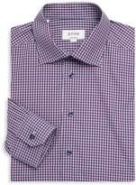 Eton Men's Contemporary-Fit Plaid Cotton Dress Shirt