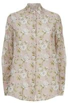 Robert Rodriguez Floral Print Open Back Blouse