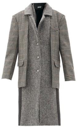 Preen by Thornton Bregazzi Loretta Layered Deadstock Wool-twill Coat - Grey Multi