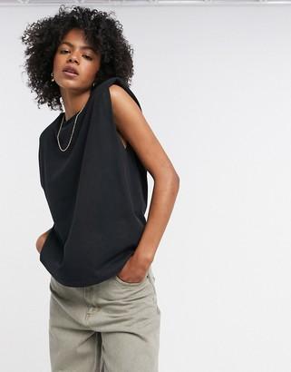 AllSaints Coni tank top in black