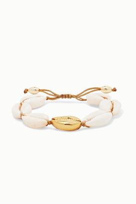 Puka Tohum - Large Gold-plated And Shell Bracelet - one size