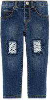 Arizona Patch Denim Jeans - Baby Girls 3m-24m
