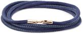 Luis Morais - Leather And Rose Gold Wrap Bracelet