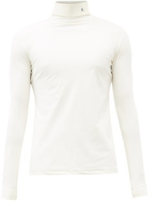 Raf Simons R-embroidered Roll-neck Jersey Top - Cream