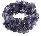 Bling Jewelry Simulated Amethyst Gemstone Chips Chunky Stretch Bracelet