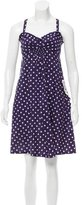Marc Jacobs Polka Dot Knee-Length Dress