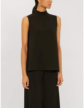 Theory High-neck sleeveless crepe top