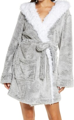 Honeydew Intimates Be Mine Faux Fur Hooded Robe