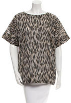 Yigal Azrouel Patterned Crew Neck Top