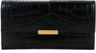 Bottega Veneta Soft Alligator Flap Continental Wallet