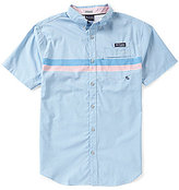 Columbia PFG Super Harborside Engineered Stripe Short-Sleeve Woven Shirt