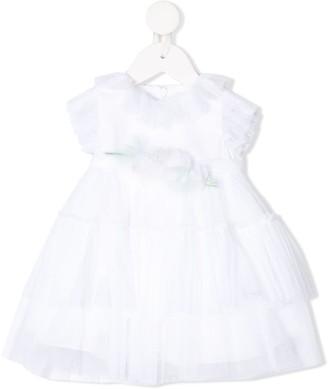 Miss Blumarine Tulle Ruffle-Trimmed Dress
