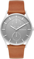 Skagen Men's Holst Brown Leather Strap Watch 40mm SKW6264