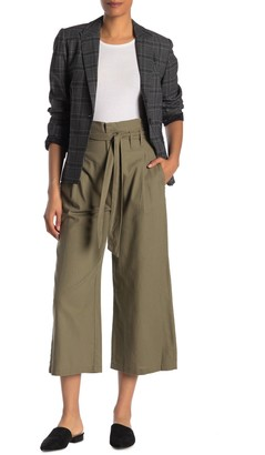 Rachel Roy Nancy Paperbag Crop Linen Blend Pants