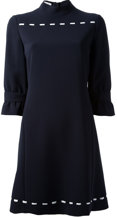 Moschino knit detail shift dress