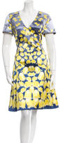 Prabal Gurung Abstract Floral Print A-Line Dress w/ Tags