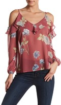 Soprano Ruffle Cold Shoulder Blouse
