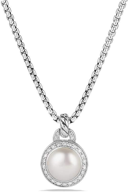 David Yurman Albion Pearl Necklace with Diamonds