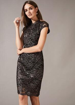 Phase Eight Jamie Metallic Lace Dress