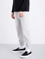 Helmut Lang Overlap faux-suede jogging bottoms