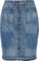 Rag & Bone Washed-denim mini skirt