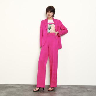 Sandro Wide-leg jacquard trousers