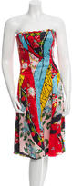 Christian Lacroix Printed Strapless Dress