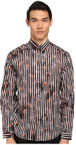 McQ by Alexander McQueen Free Line Graphic Button Up