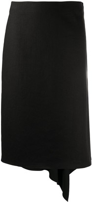 Joseph Draped-Hem Knee-Length Skirt