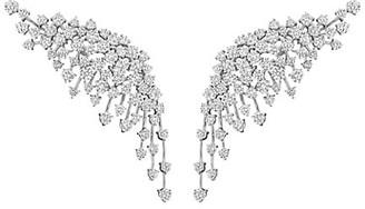 Hueb Luminus 18K White Gold & Diamond Crawler Earrings