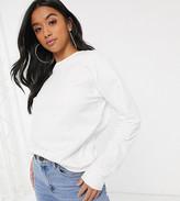Asos DESIGN Petite ultimate organic cotton sweatshirt in white