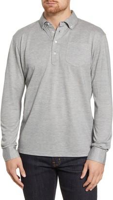 Peter Millar Avon Long Sleeve Silk & Cotton Pique Polo