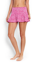 Classic Women's Flounce Mini SwimMini Skirt-Light Fuchsia Bandana Paisley